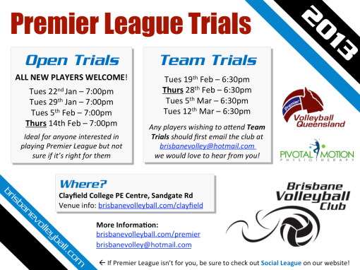2013 PVL Trials Flyer